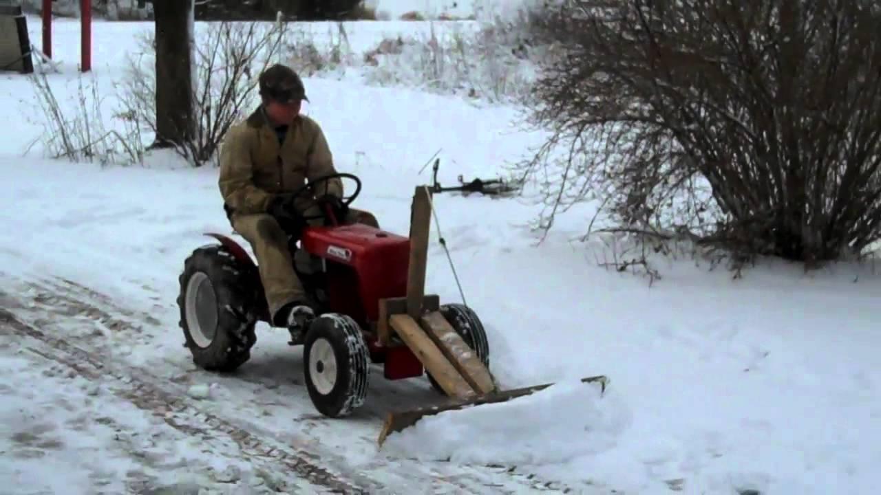 Garden Tractor Snow Plows : Homemade snow plow for garden tractor ftempo