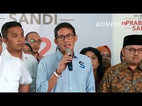 Sandiaga Uno : Perjuangan Prabowo-Sandi Bukan Perjuangan Menang atau Kalah