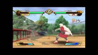 Naruto Shippuuden Gekitou Ninja Taisen Special PC Gameplay - Namikaze Minato vs Jiraya