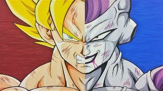Drawing Goku SSj vs Frieza full Power | Dragonball Z | TolgArt