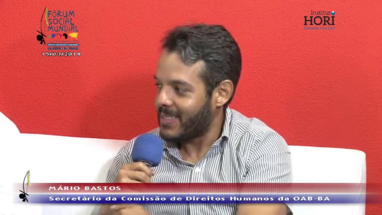 Fórum Social Mundial   Eduardo Rodrigues e Mário Bastos