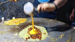 Traffic Jam Omelette | Gravy Stuffed Omelette Dish | Egg Street Food | Indian Street Food