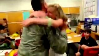 Members of the military return home to reunite with their families