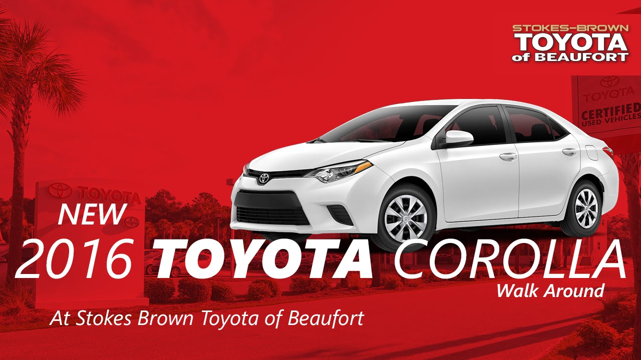 2016 Toyota Corolla S Plus With Kaikah At Stokes Brown Toyota Of Beaufort