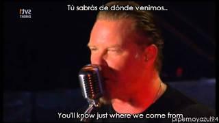Metallica - Damage inc [Lyrics y Subtítulos(Español)]