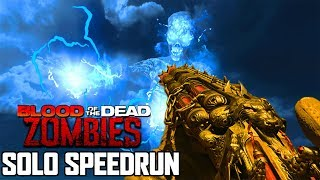 Solo Blood of the Dead Speedrun (Black Ops 4 Zombies)