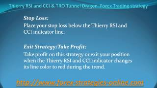 Thierry RSI and CCI & TRO Tunnel Dragon  Forex Trading strategy