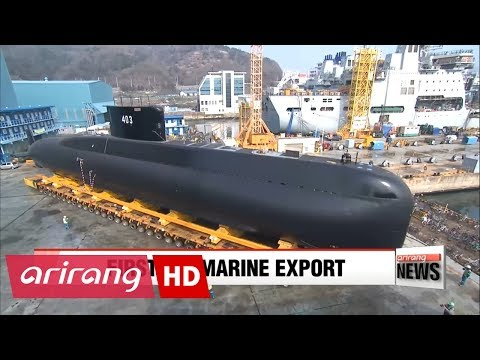 First submarine export as S. Korea hands over vessel to Indonesia