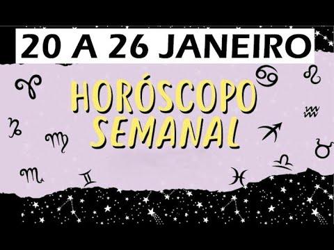 HOROSCOPO SEMANAL 20 A 26 JANEIRO I Horóscopo Da Semana