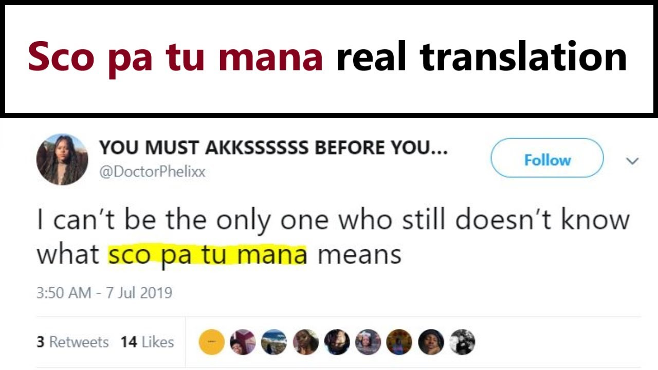 Sco pa tu mana - what does it mean? Google Translate doesn`t know!