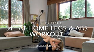 34' ABS & LEGS WORKOUT I bodyweight only I Reboost circuits
