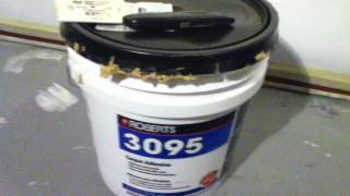 Home Theater Carpet on wall using  Roberts 3095 carpet adhesive  from Home Depot