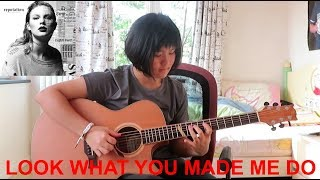 Look What You Made Me Do - Taylor Swift (Andrew Foy arrangement) (fingerstyle guitar) Free Tabs