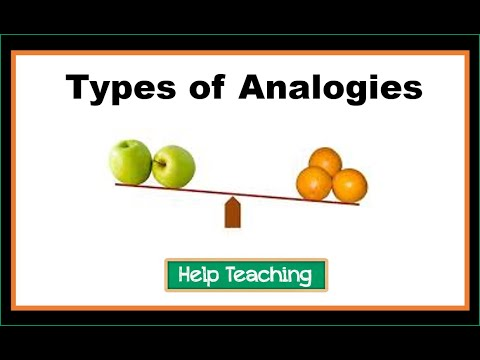 Vocabulary Lesson: Types of Analogies