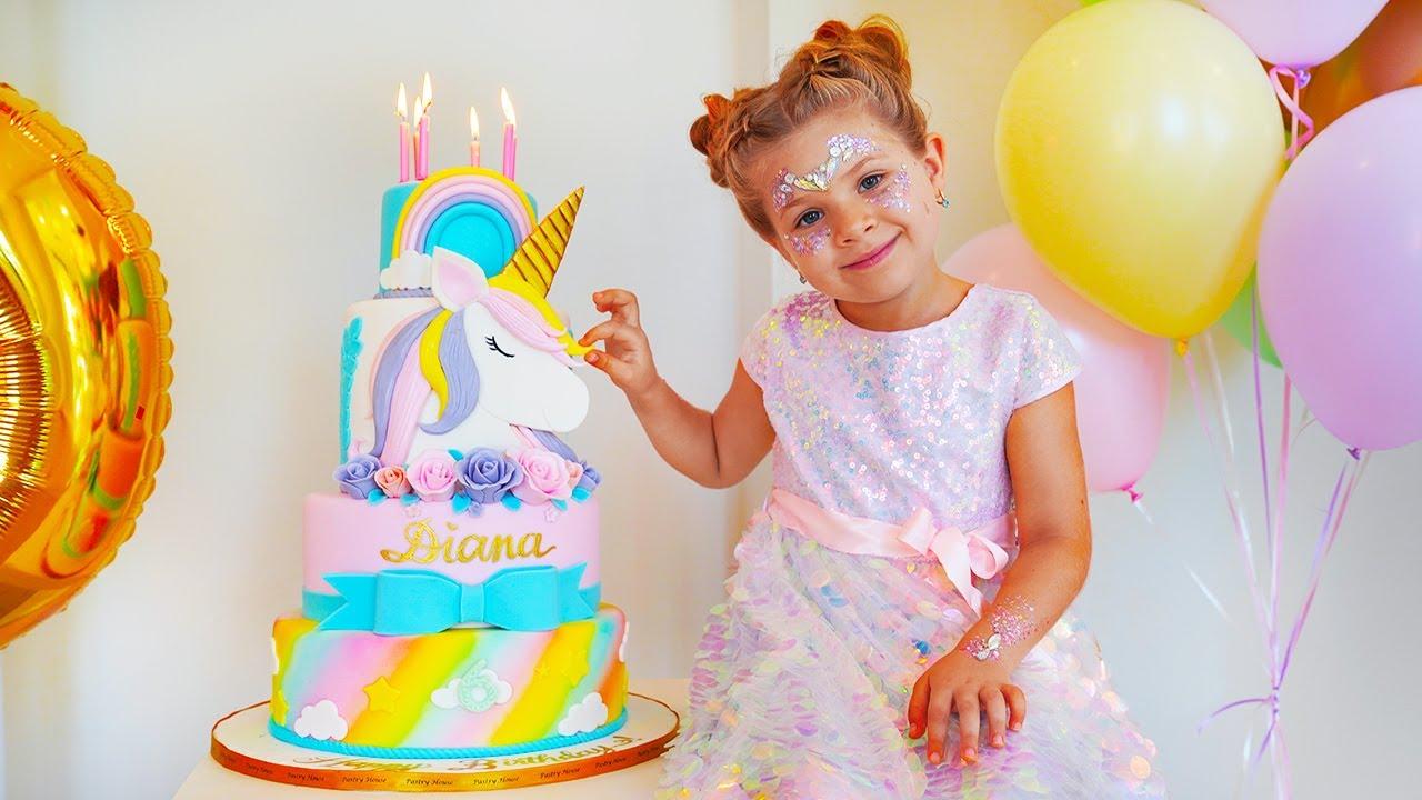 डायना और उसका 6 वां जन्मदिन - तोहफे और मिठाई