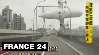 Spectaculaire crash d'un avion à Taïwan - Au moins 11 morts à Taipei