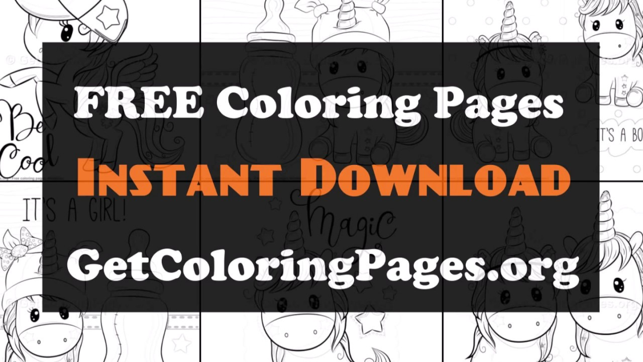 Flying unicorn coloring pages - YouTube