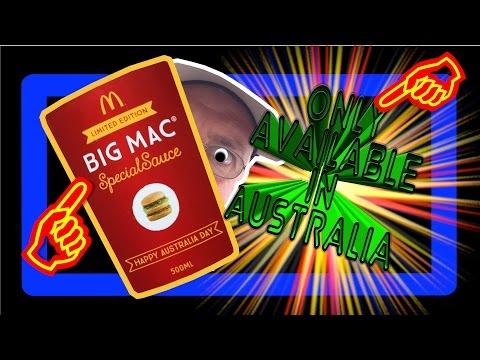 McDonalds Big Mac Special Sauce   Australia Day Release