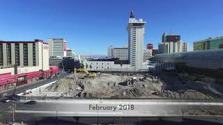 Las Vegas Club Demolition Before and After