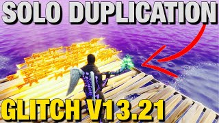 *SOLO* Duplication Glitch V13.21 (UNDER 1 MINUTE) Fortnite Save The World