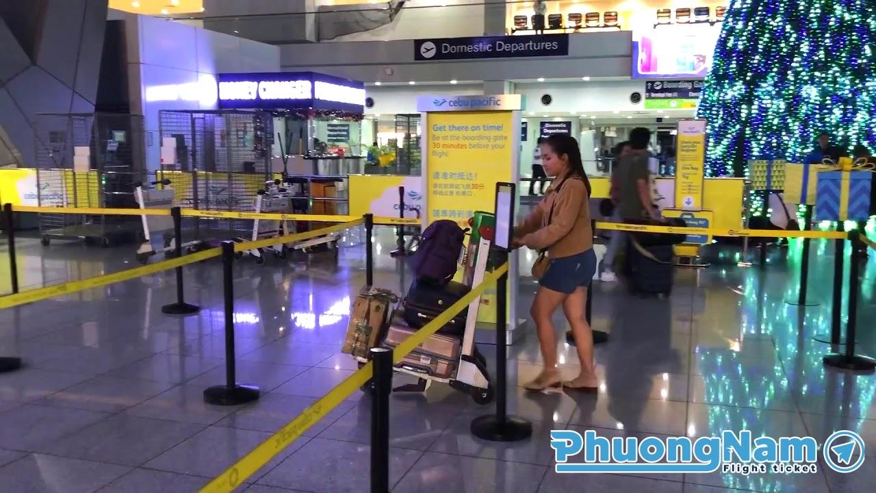 [Phòng vé Phương Nam] Quy trình check-in tại sân bay Manila (MNL – SGN)
