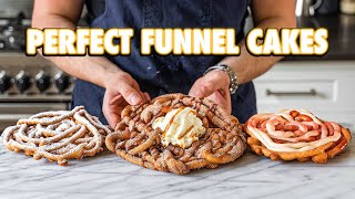 Perfect Homemade Theme Park Funnel Cakes (3 Ways)