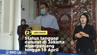 Anies perpanjang status tanggap darurat di Jakarta