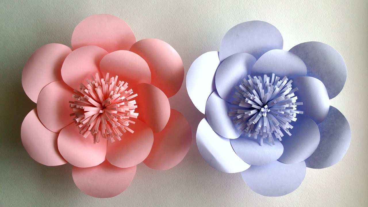 How To Make Paper Flowers - Paper Flower tutorial - Step by Step ...