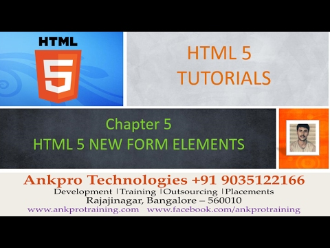 HTML 5 - Chapter 5 -HTML 5 new form elements datalist, output, keygen and meter