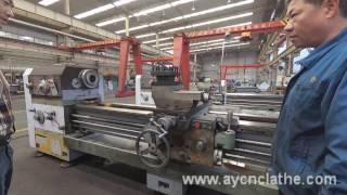 CW6180B/3M Manual horizontal lathe machine operation video from anyang xinsheng china