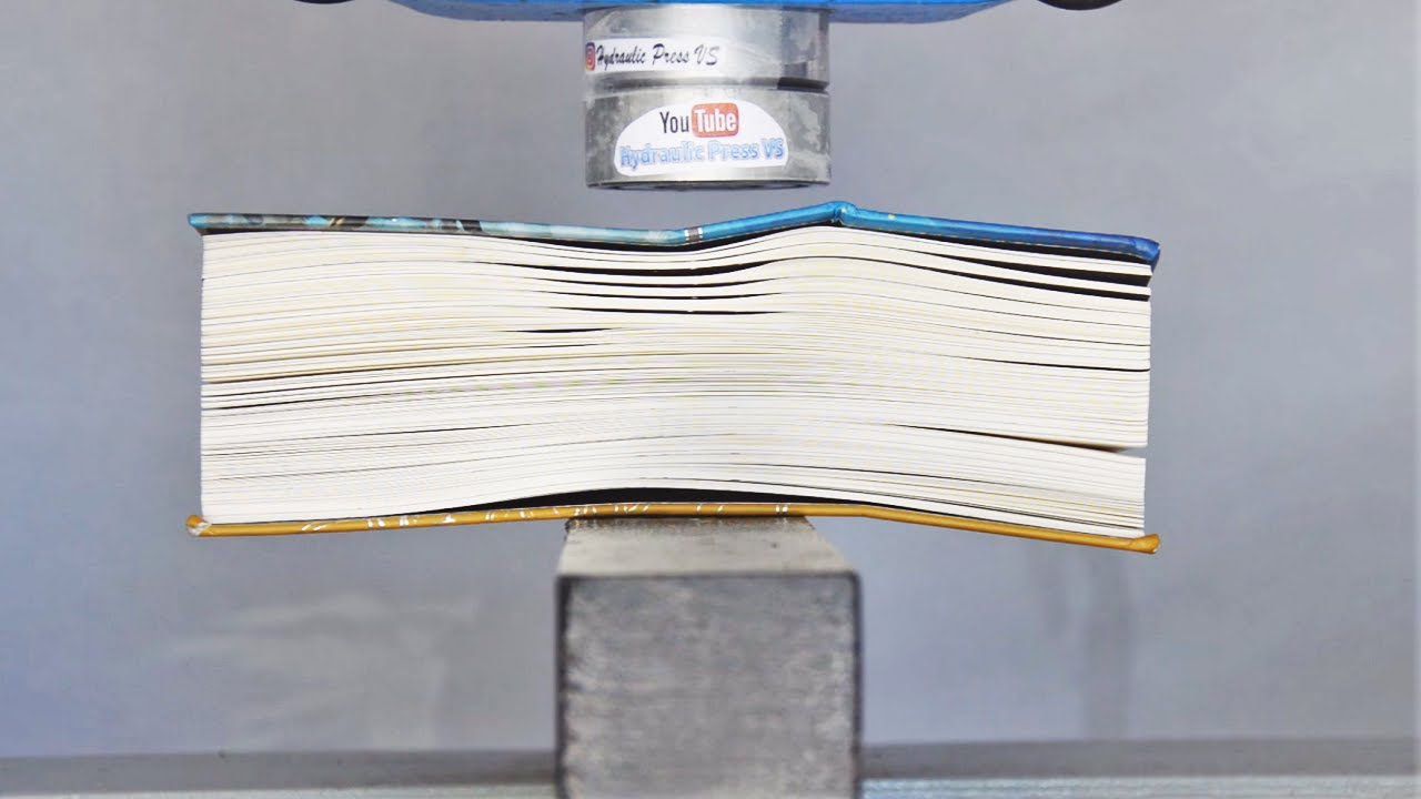 Book Vs Hydraulic Press Big Book vs Hydraulic Press - How to turn a book back to wood. Part 2.