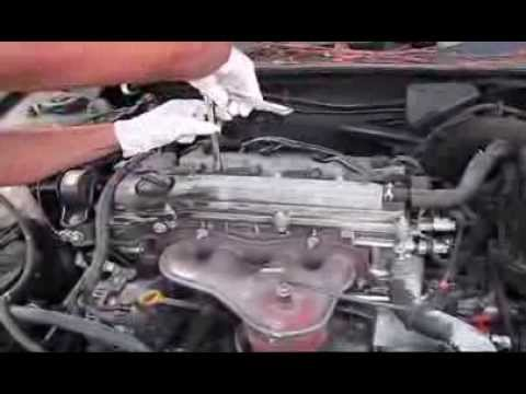 how to replace spark plugs and air filter on 05 toyota camry 2 4l youtube. Black Bedroom Furniture Sets. Home Design Ideas