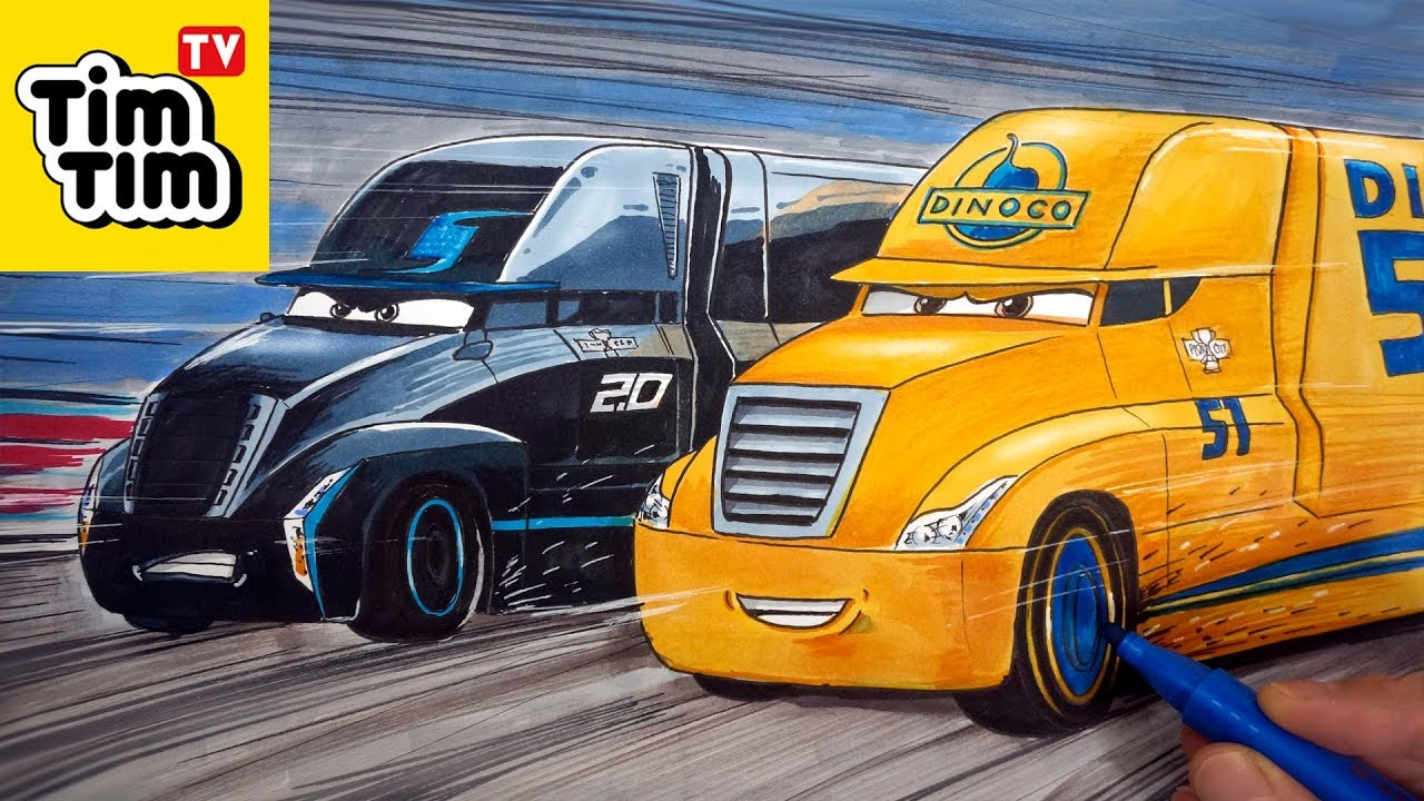 How To Draw Cars 3 2 0 Jackson Storm S Hauler Gale