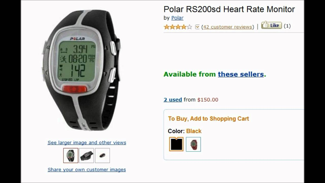 Betere Polar RS200sd Heart Rate Monitor Review | Worth it? - YouTube DG-71