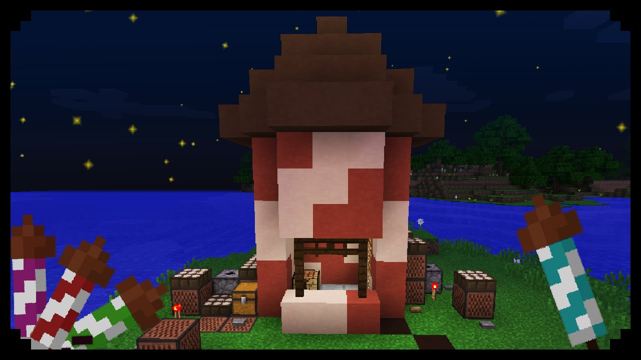 Minecraft: How to make a Firework Shop - YouTube