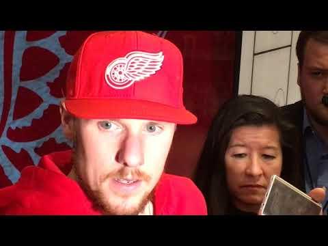 Red Wings' goalie Jimmy Howard describes buzzer-beating goalie