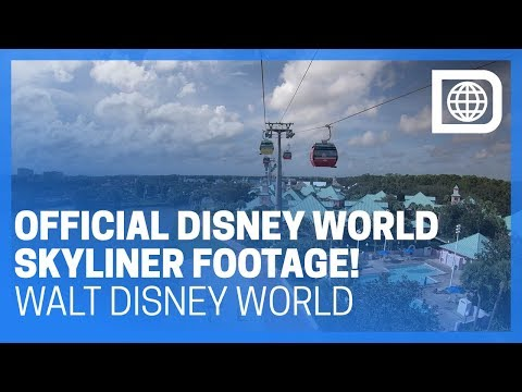 Official Disney World Skyliner Footage!