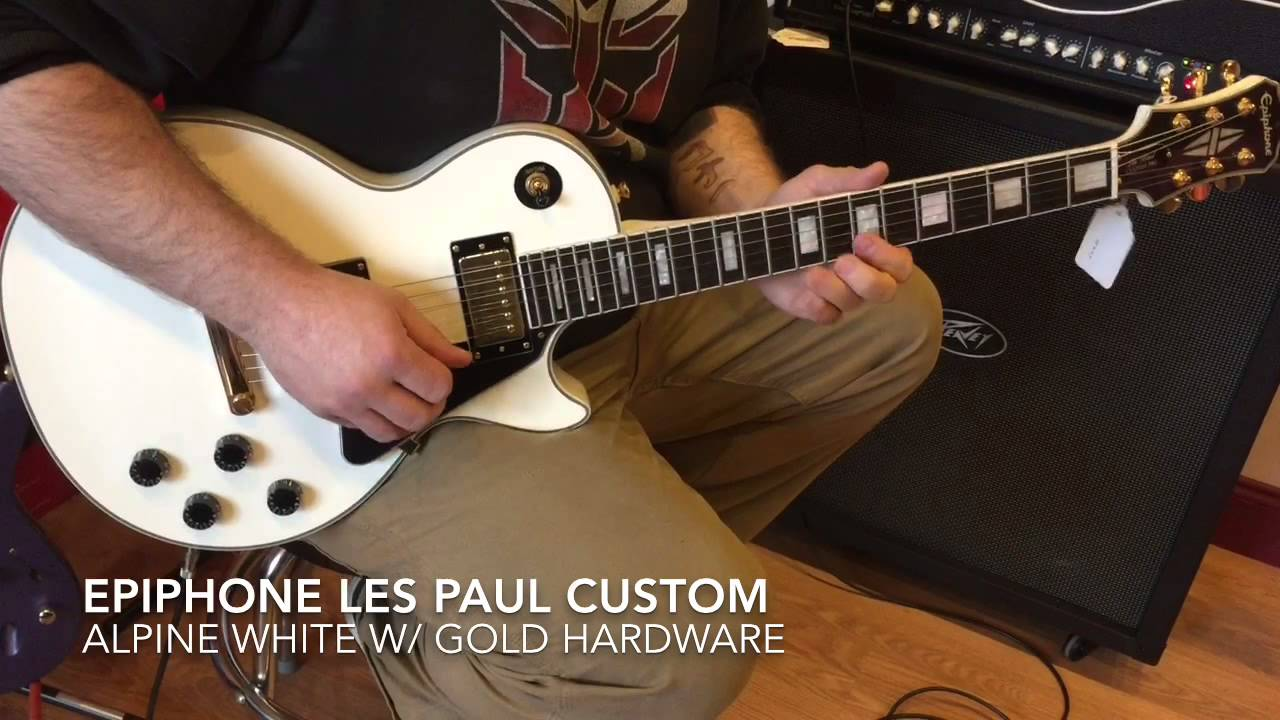 epiphone les paul custom alpine white youtube. Black Bedroom Furniture Sets. Home Design Ideas