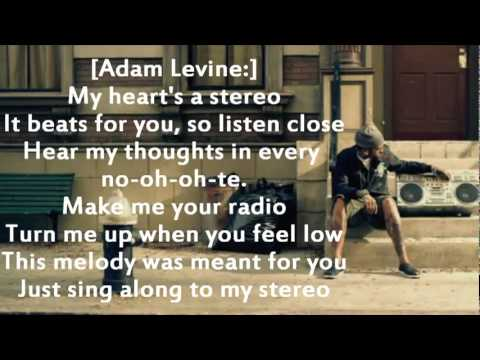 Gym Class Heroes ft Adam Levine - Stereo Hearts (Lyrics on screen)