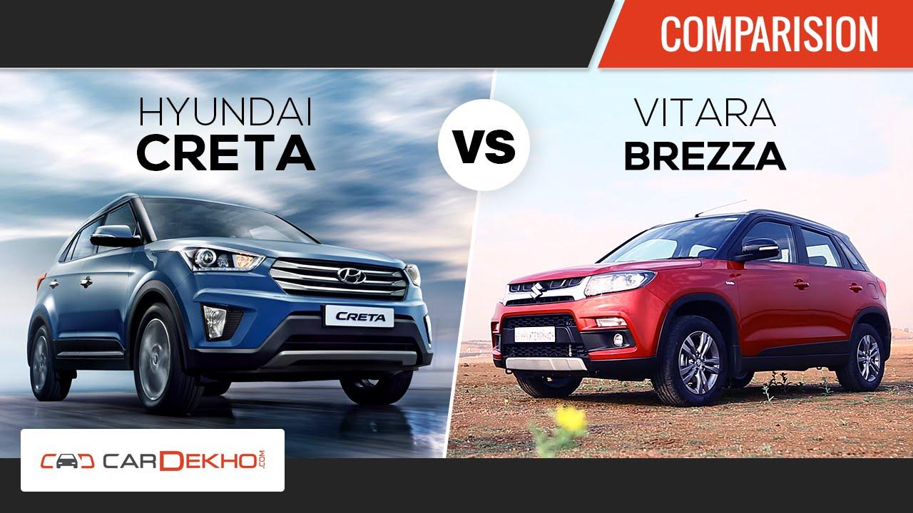 Hyundai Creta vs Maruti Suzuki Vitara Brezza | Comparison ...