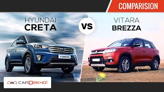 Hyundai Creta vs Maruti Suzuki Vitara Brezza | Comparison Review