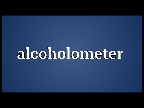 Header of alcoholometer