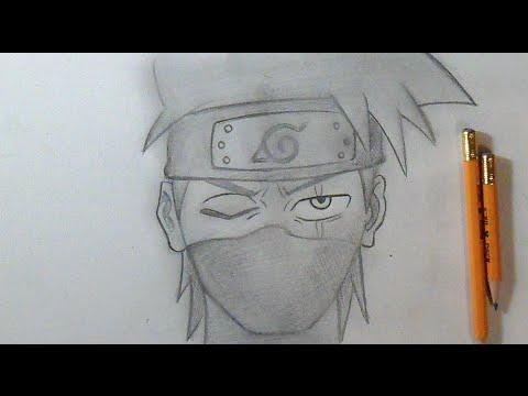 Paso a Paso Cmo dibujar a Kakashi Naruto  How to Draw Kakashi