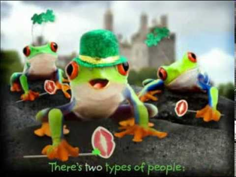 St Patricks Day Singing Frogs E Card
