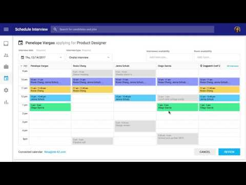 Hire with G Suite - Scheduling