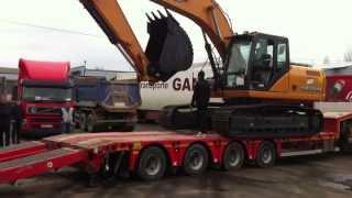 Гусеничный экскаватор CASE CX210B, Япония, перевозка, трал(, 2015-04-08T12:56:40.000Z)