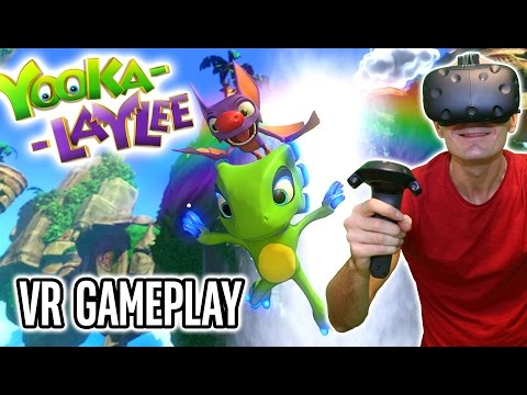 Yooka-Laylee VR Gameplay on HTC Vive with custom VR MOD - Virtual Reality Open-World Platformer!