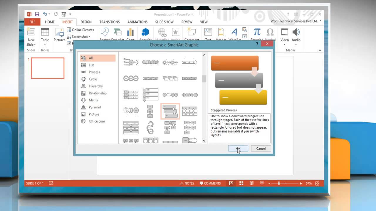 how to animate the flow chart in microsoft powerpoint 2013 on a windows 8 1 pc [ 1280 x 720 Pixel ]