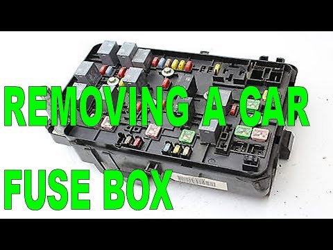 DIY - Removing A Car Fuse Box From The Engine Compartment