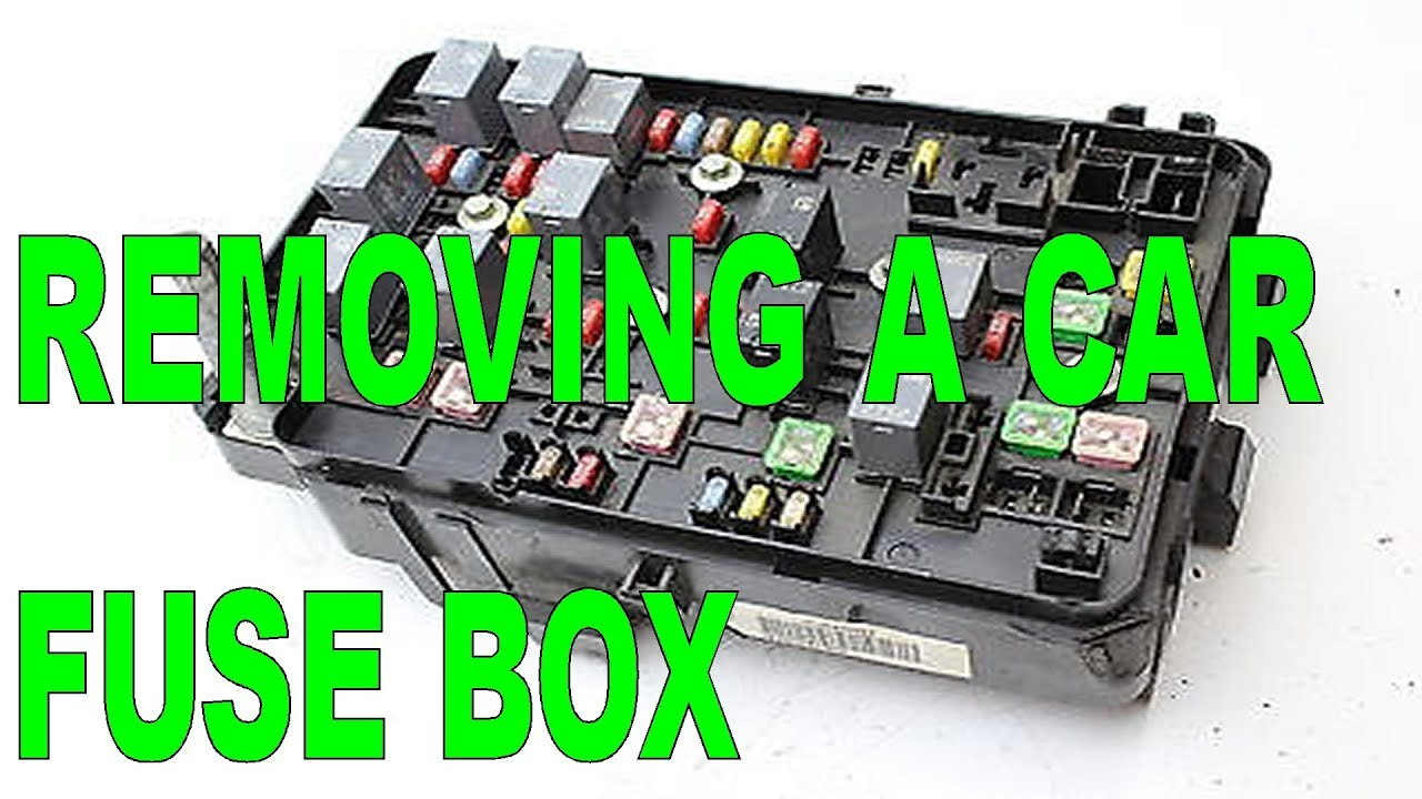 diy removing a car fuse box from the engine compartment. Black Bedroom Furniture Sets. Home Design Ideas